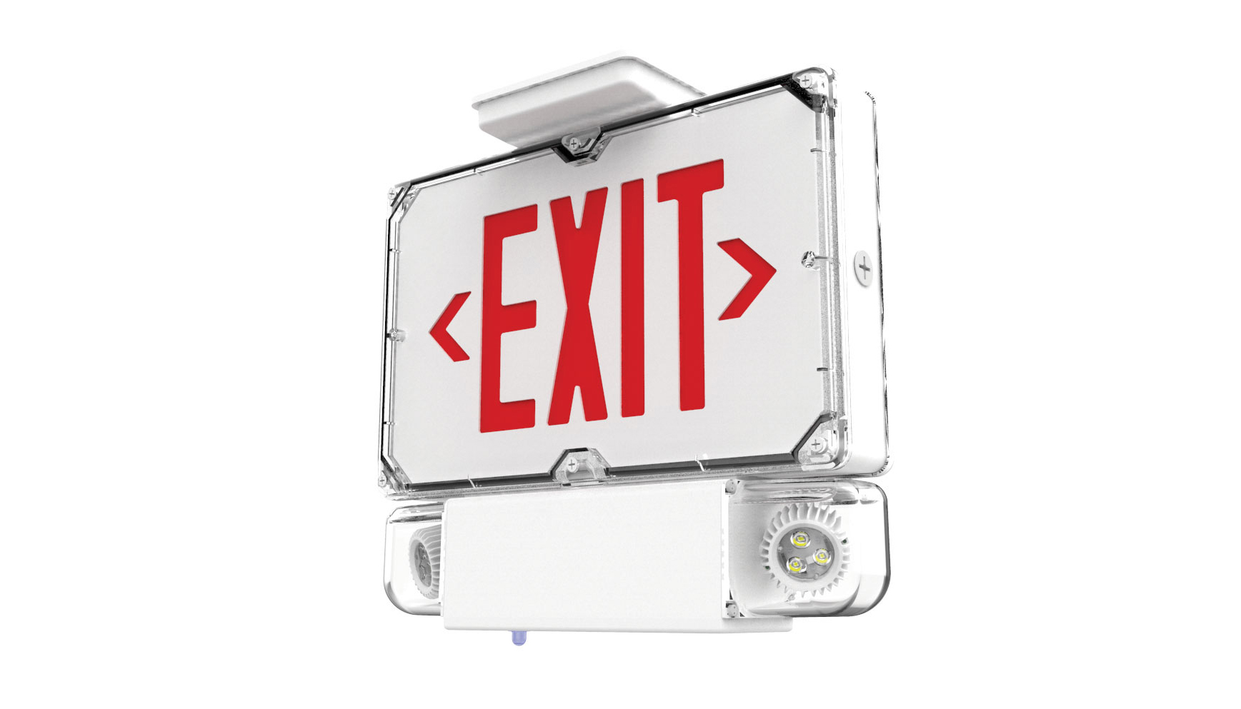 Hubbell's DYNC Combo Exit/Emergency Lighting Fixture