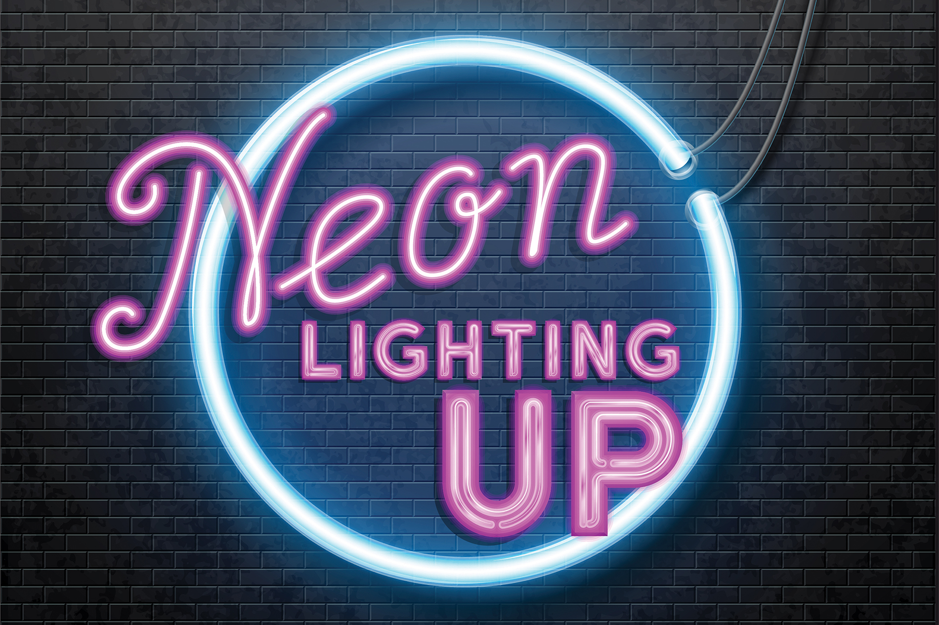 Neon Lighting Up Once Waning In The