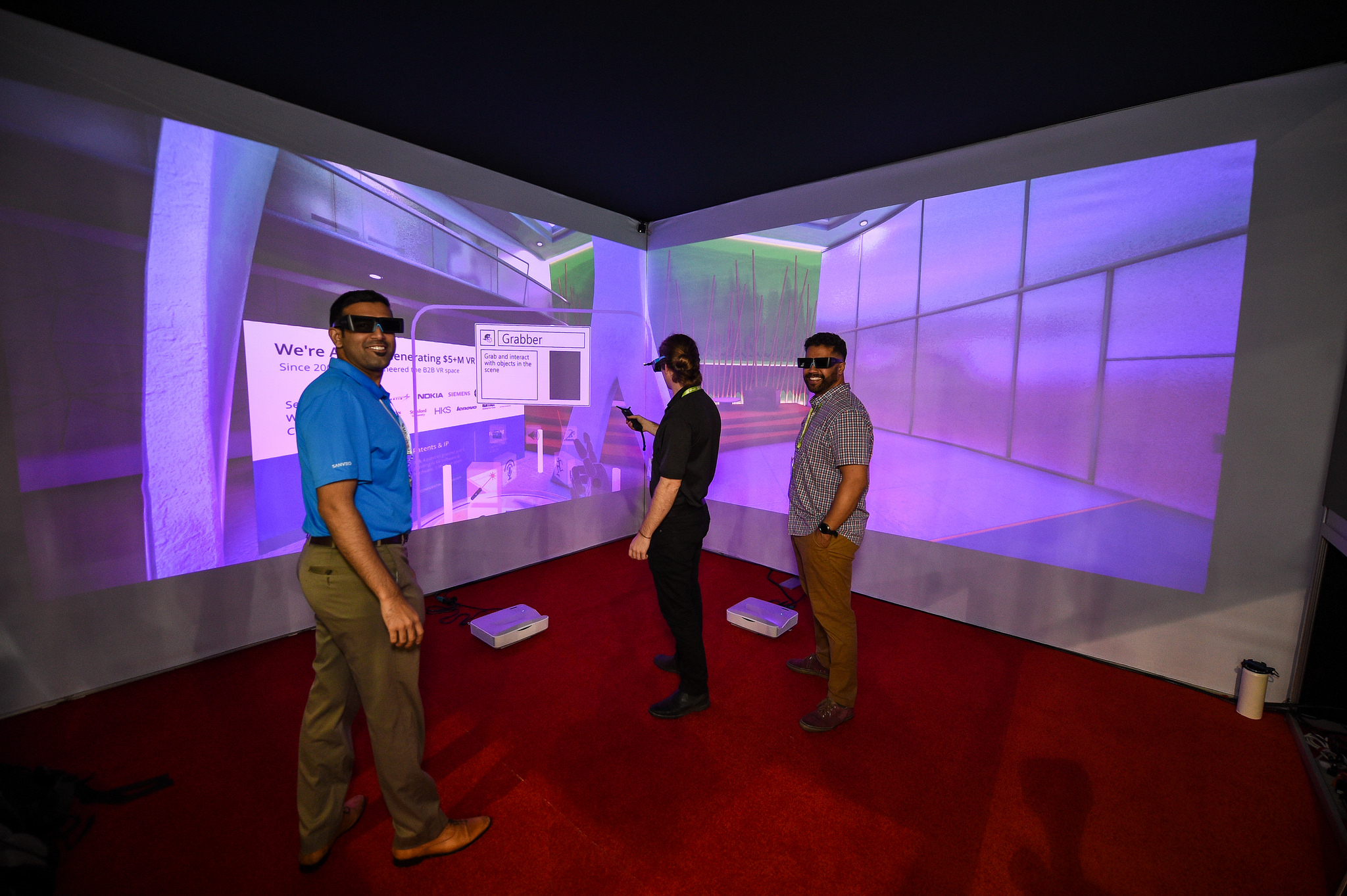 The BIM cave gave users a chance to explore BIM technology in virtual reality.