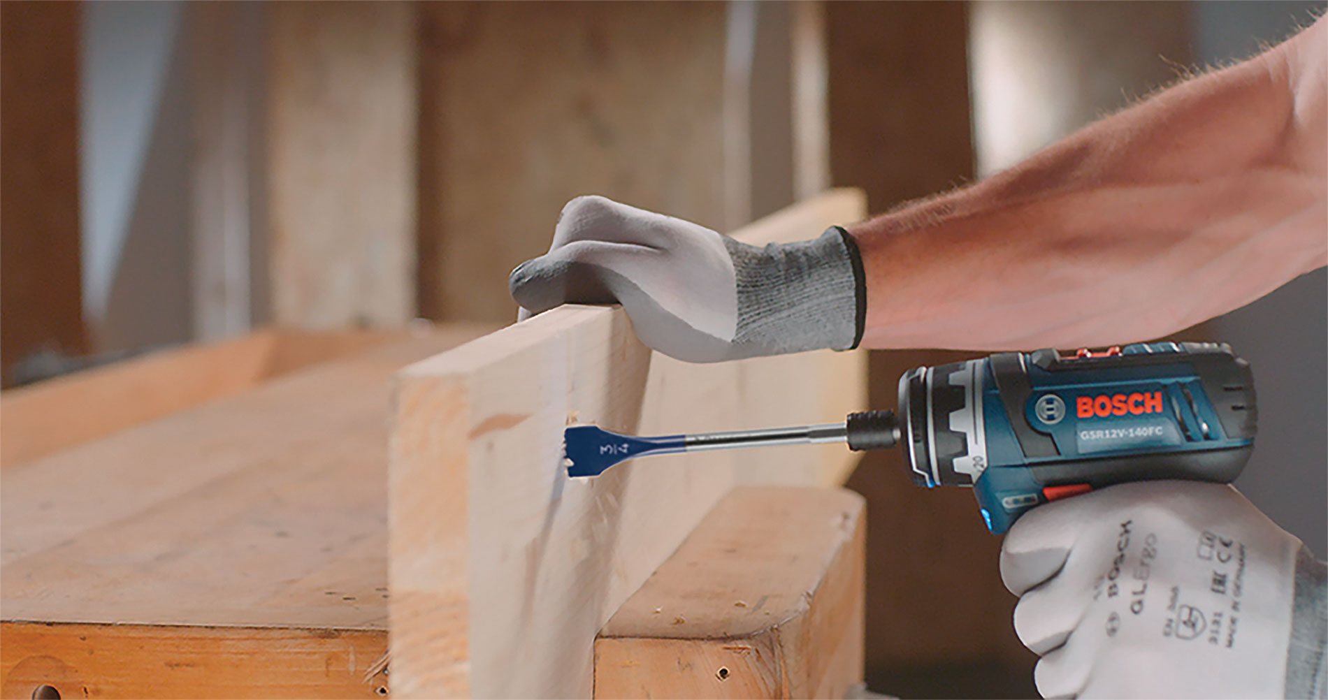 This Bosch 12V 5-in-1 drill driver is compact and lightweight and offers the performance of a larger tool. It enables users to work in tight spaces with less strain.