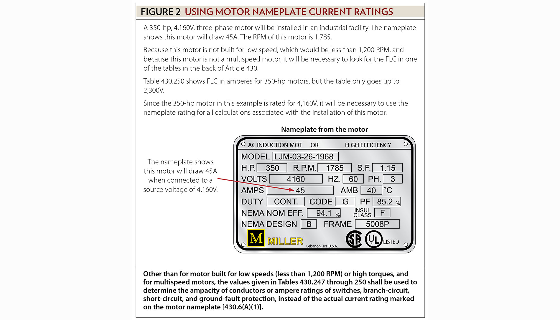 Motors motor circuits and controllers part iii article 430 except for motors built for low speeds motors with high torques multispeed motors and motors not listed in the tables it will be necessary to use the keyboard keysfo Images