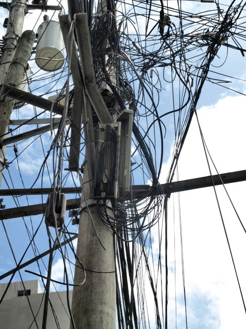 Look Up At The Fiber Optics Above You Electrical