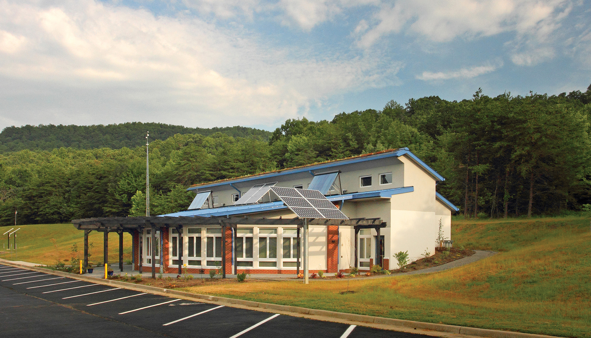 Passive House design has expanded to commercial and institutional buildings. The Center for Energy Efficient Design in Franklin County, Va., is the first Passive House public school (K–12) in the United States. IMAGE courtesy of PHIUS