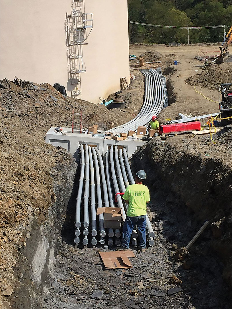 Conduit installation in West View Baden duct bank