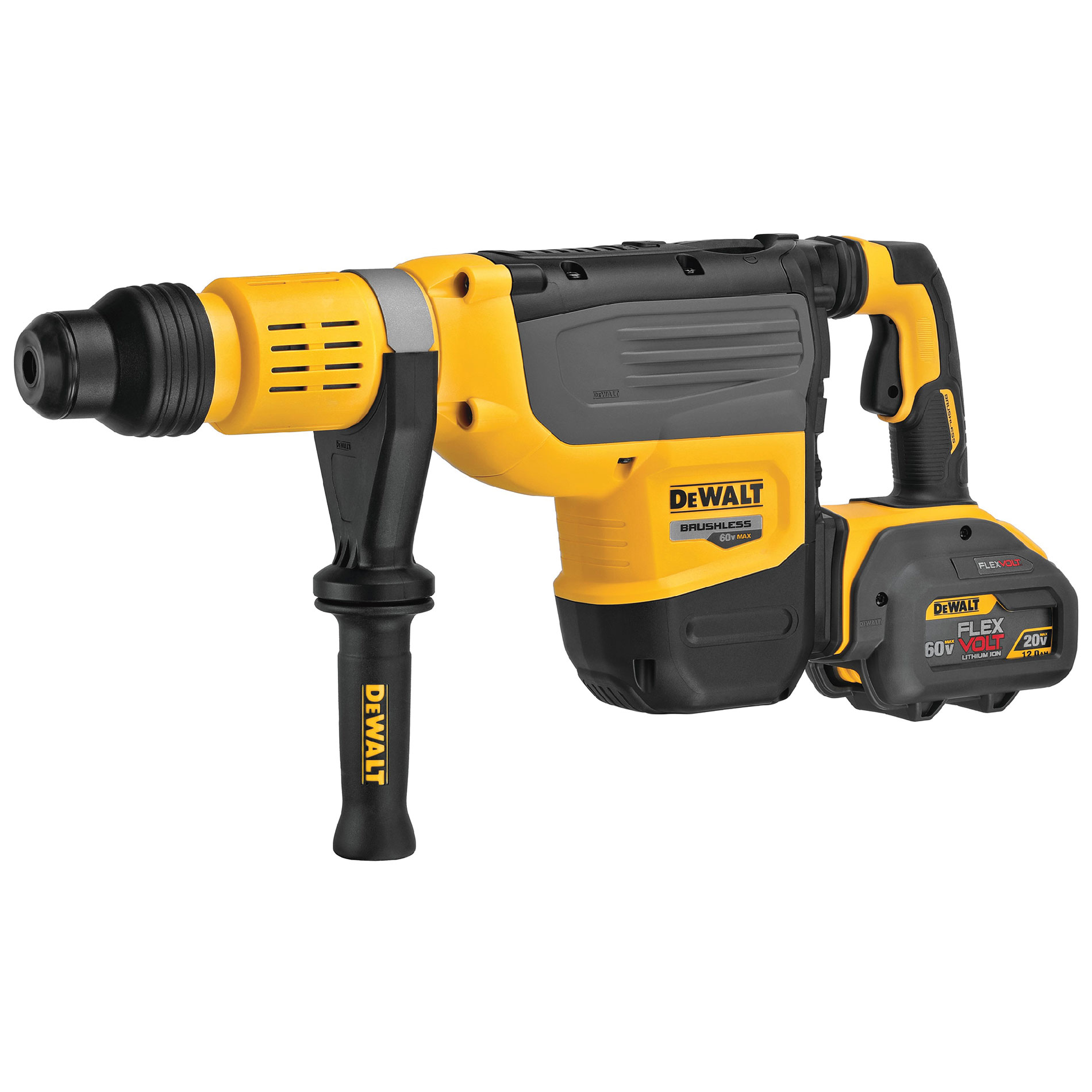 DeWalt brushless motor flex volt demo hammer