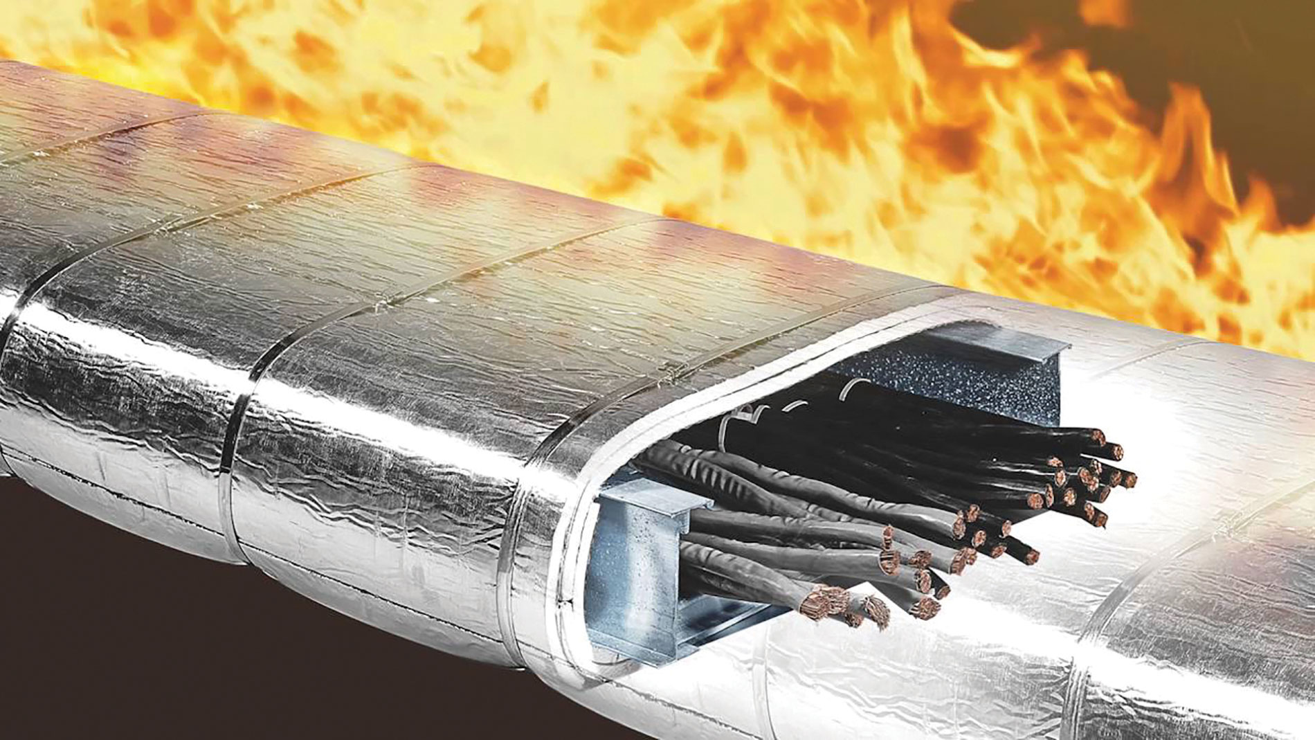 3M's Interam Endothermic Mat (E-Mat) installs quickly and releases chemically bound water to cool outer surfaces and significantly slow heat transfer in the event of a fire.