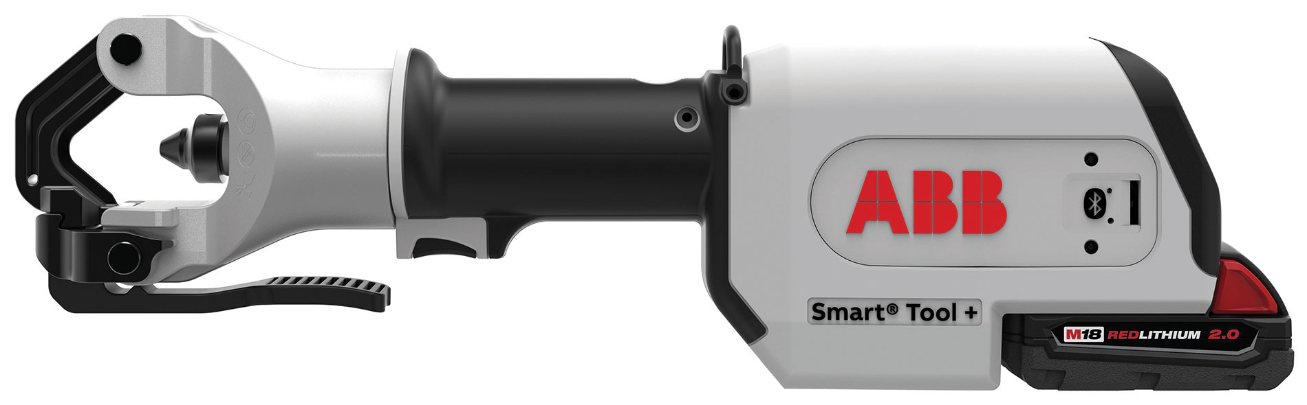 ABB's Bluetooth-enabled, dieless Smart Tool+ crimping tool uses an RFID reader  to verify successful crimps and can store data to improve safety.