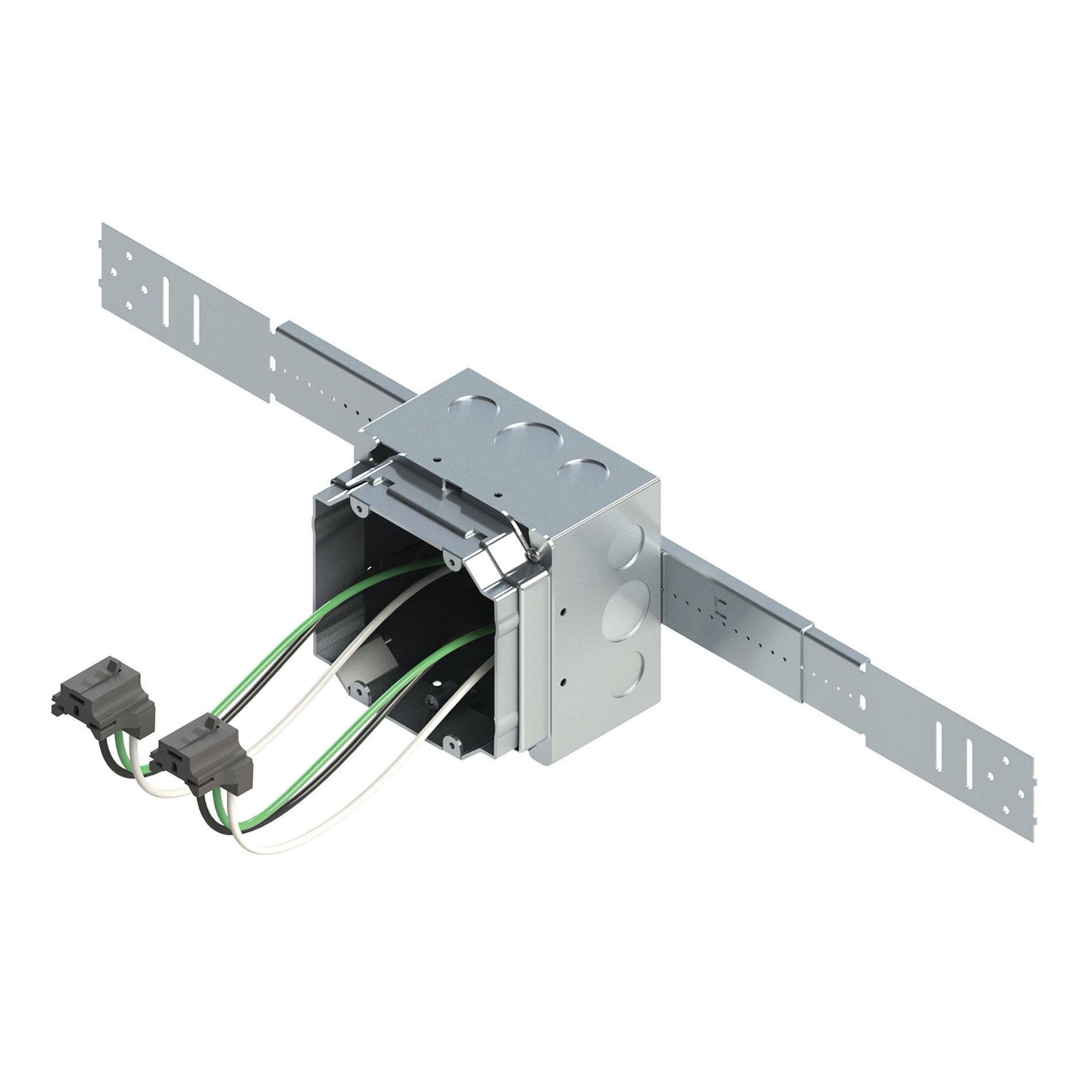 Available in preconfigured combinations that satisfy the majority of commercial rough-ins, Legrand's prefabricated EZE-Fab assemblies ease branch circuit wiring installations.