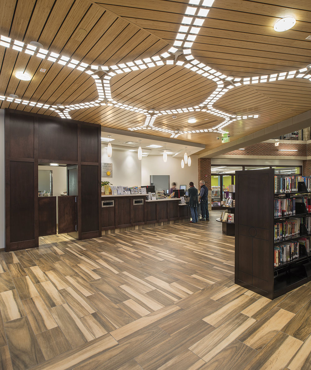 An Oled Lighting At Irondequoit Library In Rochester N Y Uses Acuity S Trilia Ceiling