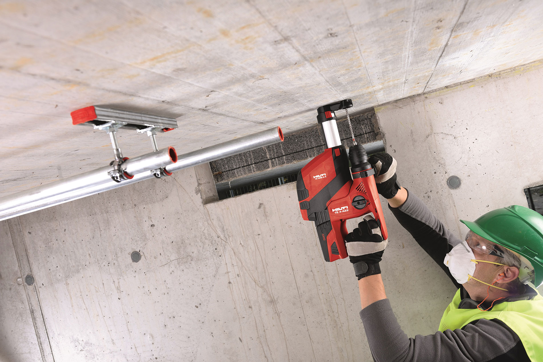 Hilti brushless rotary hammer with dust control www.hilti.com