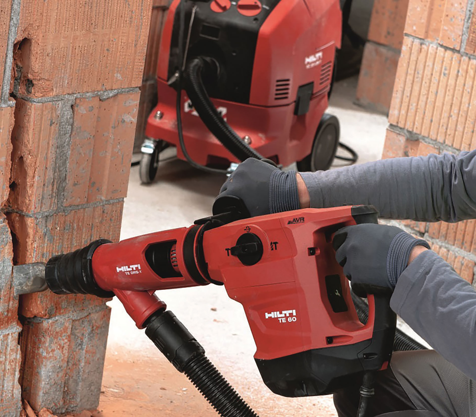 The light but powerful Hilti TE 50 SDS-max combihammer is equipped with active vibration reduction and torque control to reduce the stress on the user.