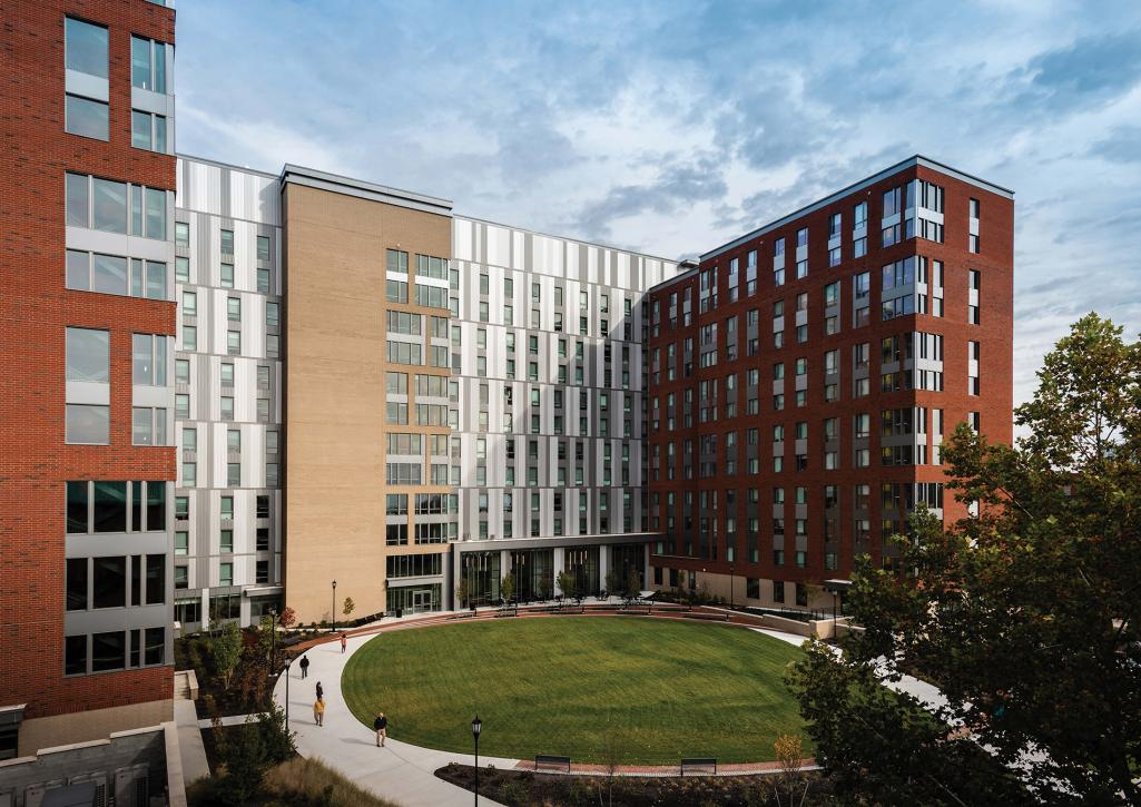 VCU Chewning + Wilmer Inc. installed electrical service for Virginia Commonwealth University's Gladding Residence Center. Image credit: Chewning + Wilmer