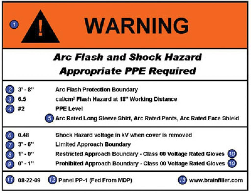 Read the label electrical contractor magazine for Arc flash warning signs