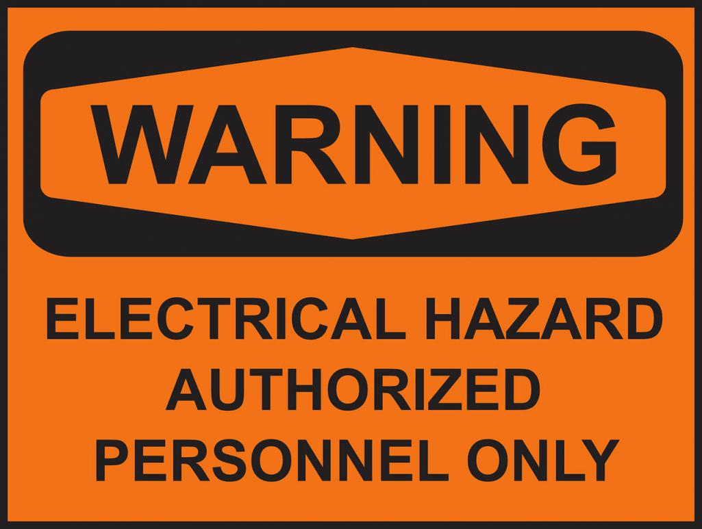 Warning against electrical hazards.