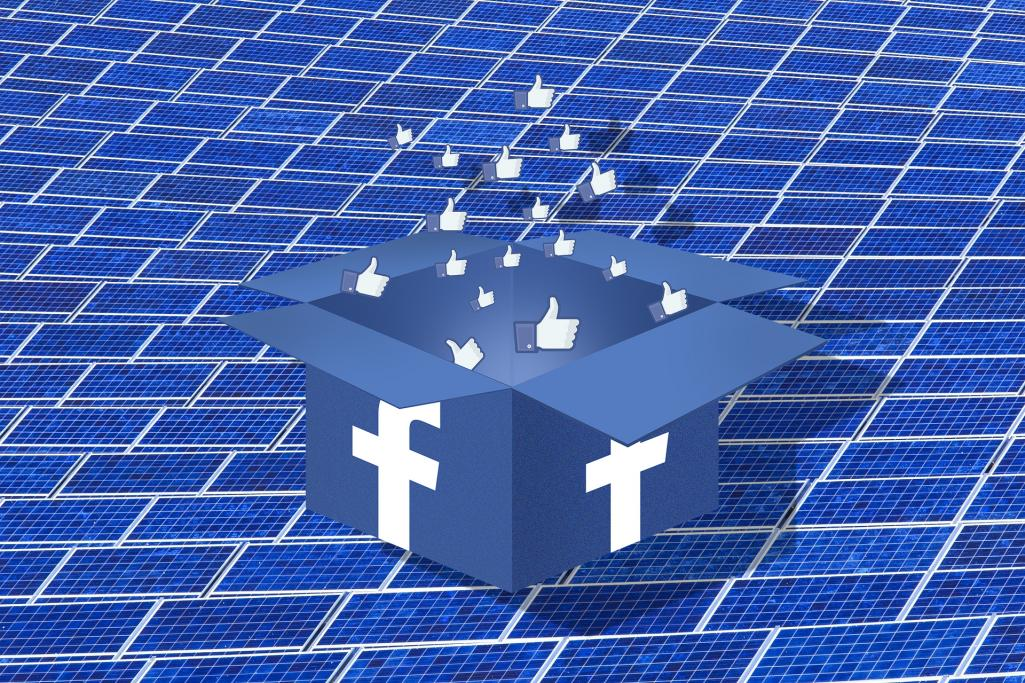 Facebook Solar Image by skeeze and GraphicsSC from Pixabay