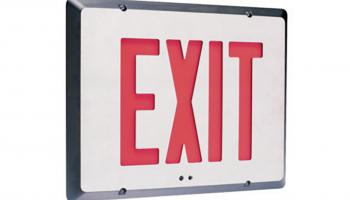 Hubbell's SERS series recessed exit sign