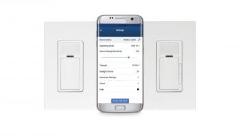 Leviton's 24V smart dimming wallbox sensor