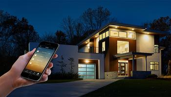 Smart house lighting with app control.