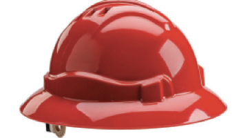 Gateway Safety's Serpent full-brim, unvented helmet
