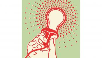 Stylized image of a hand holding a lit light bulb | iStock / CSA-Archive