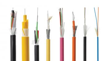 Image of various types of fiber optic cables. Shutterstock / Artush