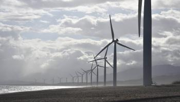 wind power on the seashore.