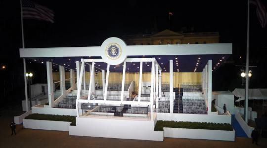 Presidential Innauguration Stand Image Credit: Heller Electric