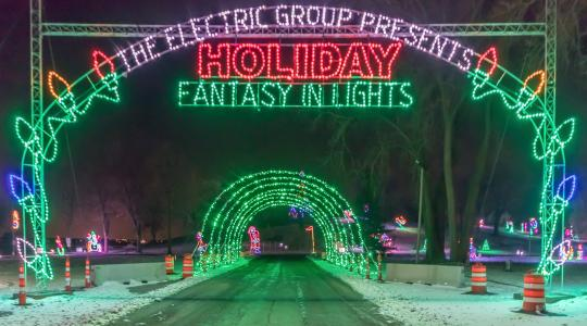 Holiday lights by Electric Group.