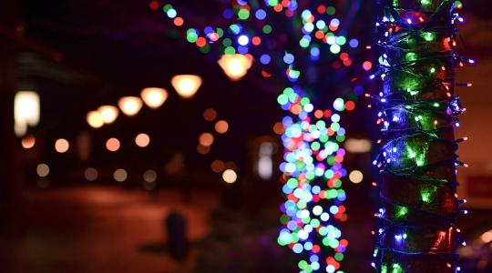 Holiday lights.