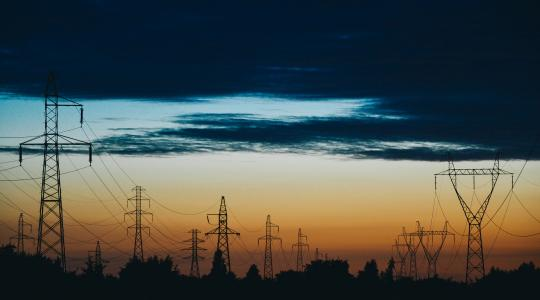 Transmission Power Lines Sunset Image by fancycrave1 from Pixabay