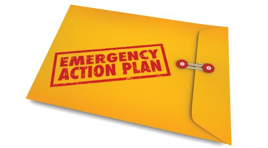 Emergency Action Plan Folder Photo Credit: Shutterstock / 1Qoncept