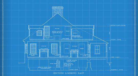 Blueprint of a typical two-story house