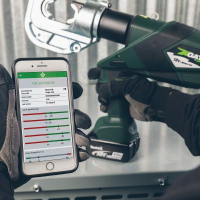 Greenlee's i-press Battery Tool-Monitoring App