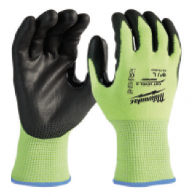 Milwaukee Tool's high-visibility polyurethane-dipped gloves