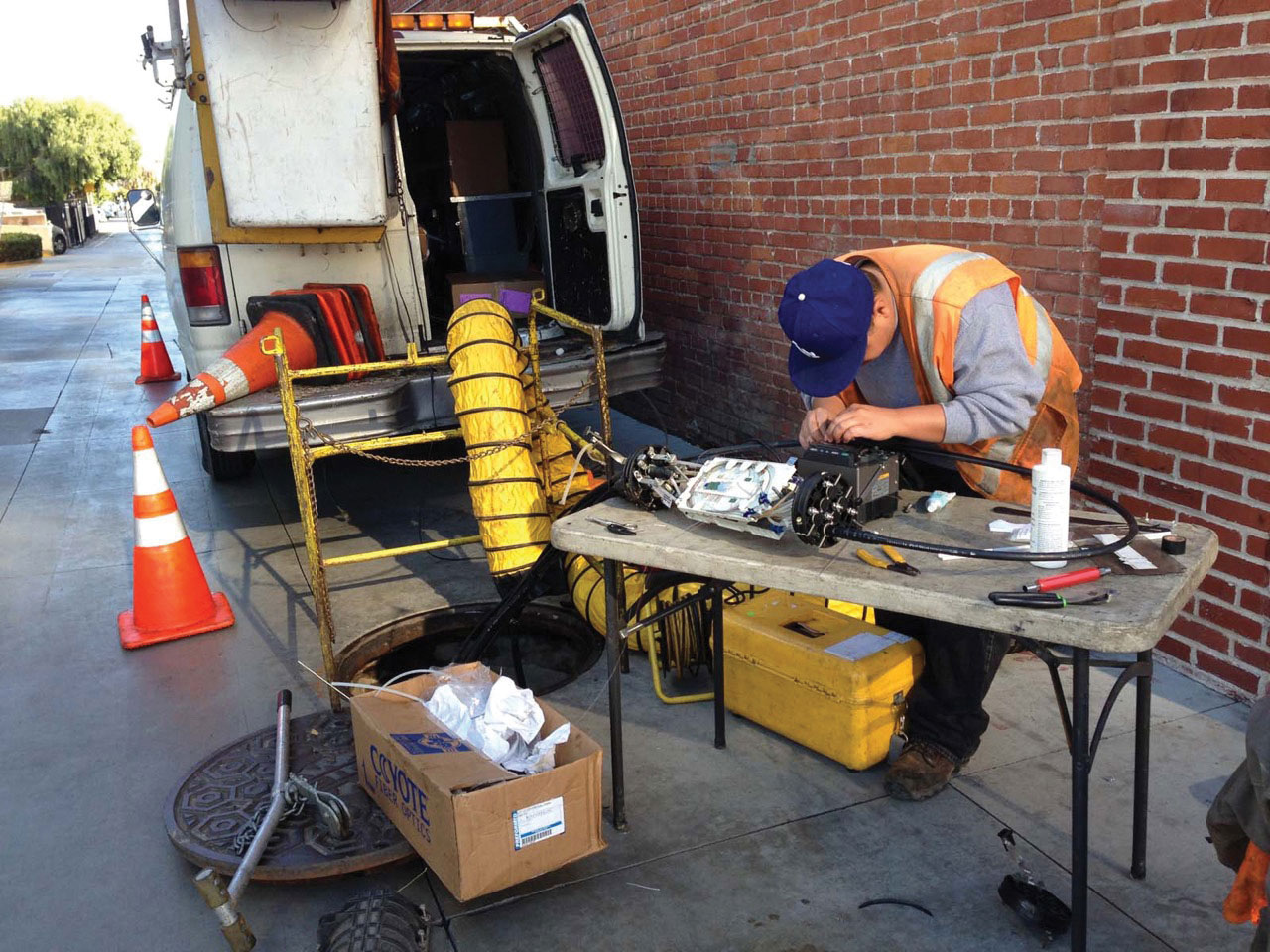 Caution Required Fiber Optic Splicing Safety Ec Mag